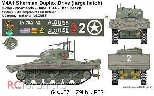 Нажмите на изображение для увеличения Название: Specs markings M4A1 (75) DD lh - ALOUISE 70th TB.jpg Просмотров: 7 Размер:79.4 Кб ID:5071776