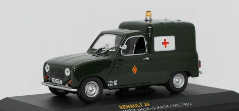 Renault 4F (IXO/Altaya) - Ambulancia Guardia Civil, 1966
